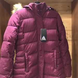 Jackets & Blazers - Spire by Galaxy puffer coat. Maroon  XS. NWT